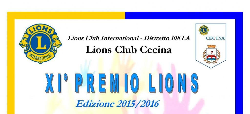 Locandina Premio Lions 3