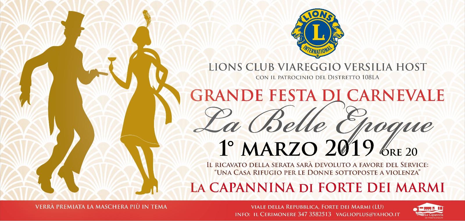 Calendario Carnevale Viareggio 2020.Festa Di Carnevale Alla Capannina Di Franceschi Lions