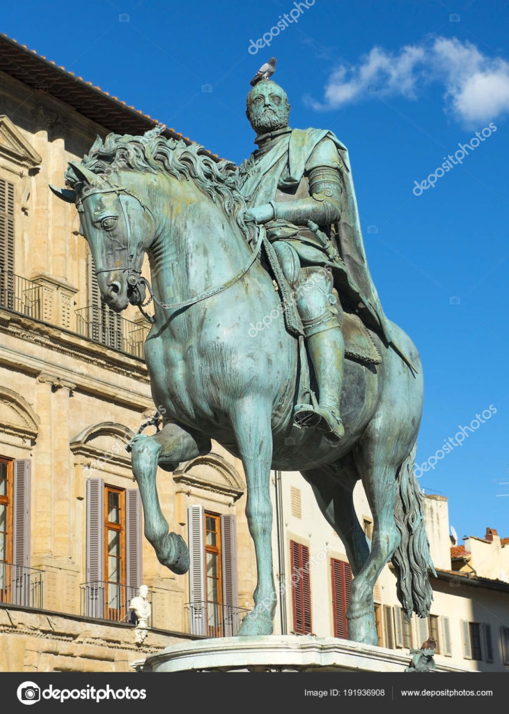 equestrian monument of Cosimo I in Florence, Italy